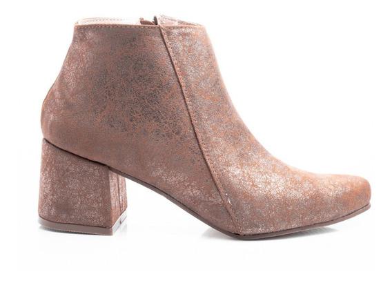 Botas Zapatos Mujer Botinetas Texanas Borcegos Taco Cuadrado