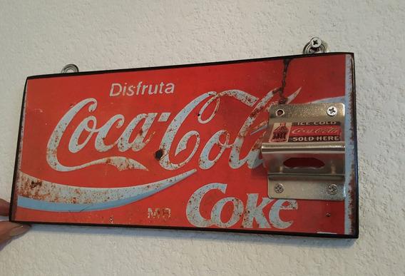 Cuadro Cartel Vintage Coleccionable Destapador Coca Cola 2