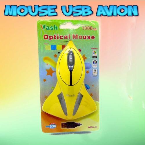 Mouse Usb Con Cable Figura Jet