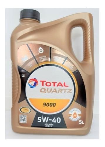 Aceite Total 5w40 Sintetico Quartz 9000 4 Lts + Regalo - Tyt