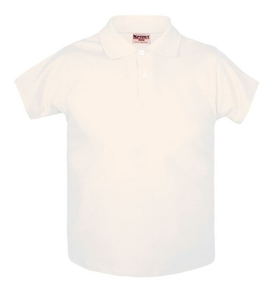 Playera Polo Niño Juvenil Optima Blanco