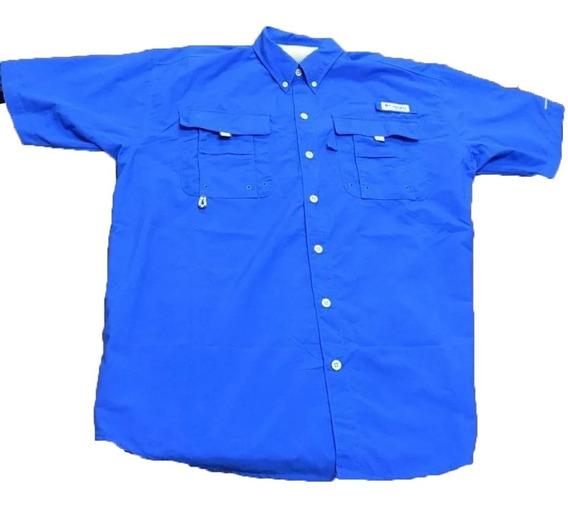 Camisa Hombre Columbia Bonehead Manga Corta Protección Uv