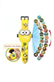 Relógio Brinquedo Infantil Minions Projeta 24 Imagens
