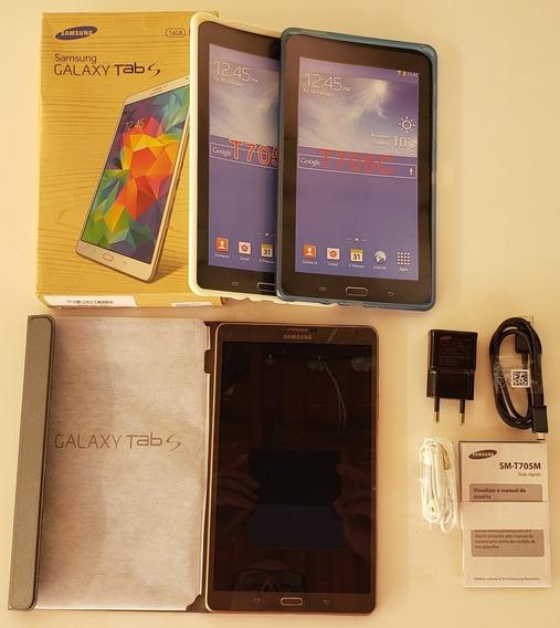 Tablet Galaxy Tab S 8.4 Sm-t705m Completo + Cases + Brinde