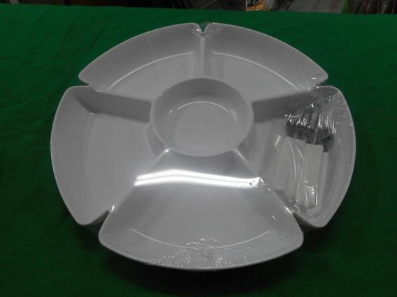 Copetinero Plastico 6 Divisiones Con 5 Pinches De Copetin