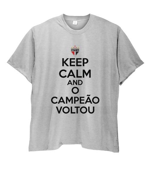 Camiseta Masculina Keep Calm São Paulo Spfc Plus Size Ao G6
