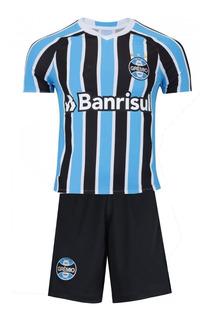 Conjunto Infantil Futebol Gremio Uniforme