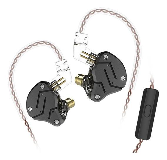 Kz Zsn 3.5mm Com Fio Em Fones De Ouvido Com Microfone De