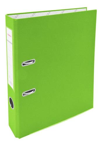 Bibliorato A4 Angosto Teoria+ Verde Manzana