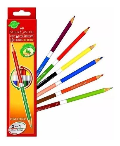 Lapices De Colores Faber Castell Bicolor X 6
