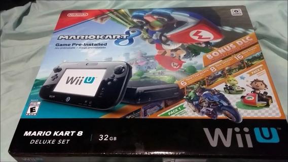 Wii U Edição Mario Kart 8 32 Gb Deluxe Set Novo Sem Uso