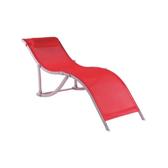 Cadeira Espreguiçadeira S Alumínio Vermelha Bel Lazer