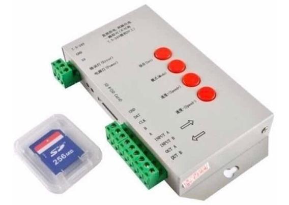 Controladora T1000s Sd Card Original - Para Led Endereçavel