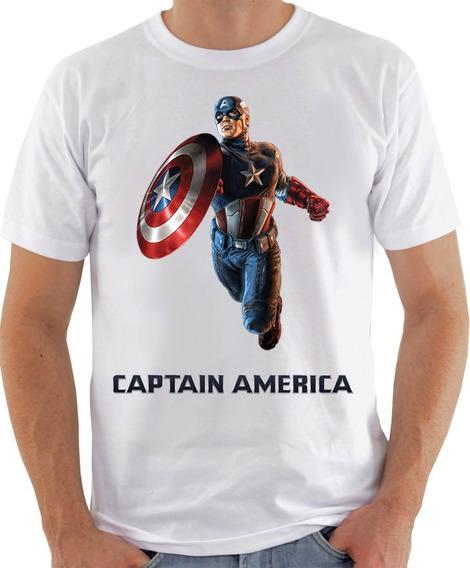 Camiseta Unissex - Capitão America Promoção 3d-625