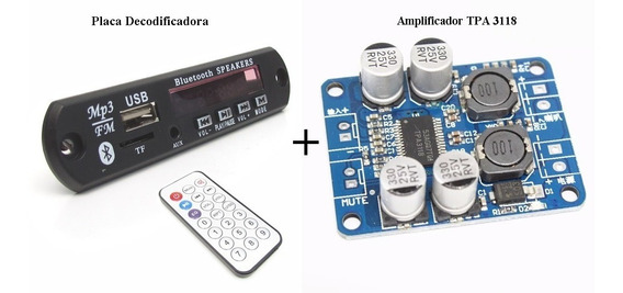 Placa Decodificadora + Amplificador Tpa 3118