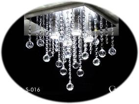 Lustre De Cristal Autênticos Mod.s16 - Base Inox Espelhada