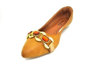 Sapatos Femininos Sapatilha Corino Craquêle Caramelo Dani K