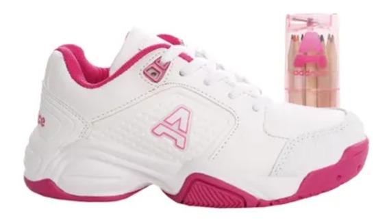 Zapatillas Addnice Classic Beta Cordon Blanco/ Fucsia