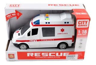 Ambulancia A Fricción C/luz Y Sonido 1483523