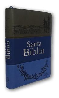 Santa Biblia Rv1960 Corona Letra Grande Cierre Indice 3tonos