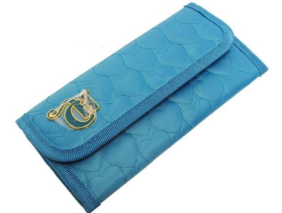Bolsa Carteira De Mão Festa Capricho Love Azul Divisória