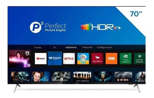 "Imagem 1 de 5 de Smart TV Philips 7600 Series 70PUG7625/78 LED 4K 70"" 220V-240V"