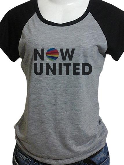 Camiseta Camisa Babylook Now United Opções Costas Blusa C444