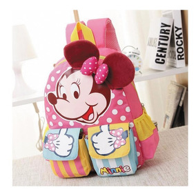 Mochila Escolar Infantil Disney Minnie Mickey Fg