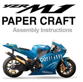 (maquete) Yzf-m1 Color Vers Papercraft Cortar Colar E Montar