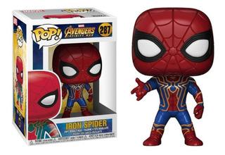 Muñeco Iron Spider Tipo Pop Cabezon Articulado