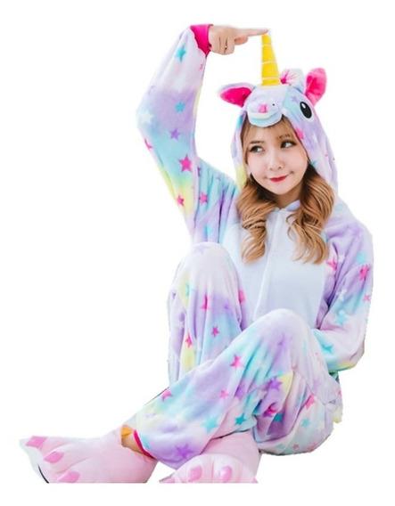Pijama Mameluco Unicornio Estrellas Adulto Envío Gratis