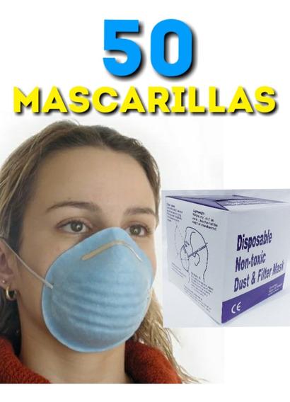 Mascarilla Cónica Tapa Boca En Caja De 50 Unidades