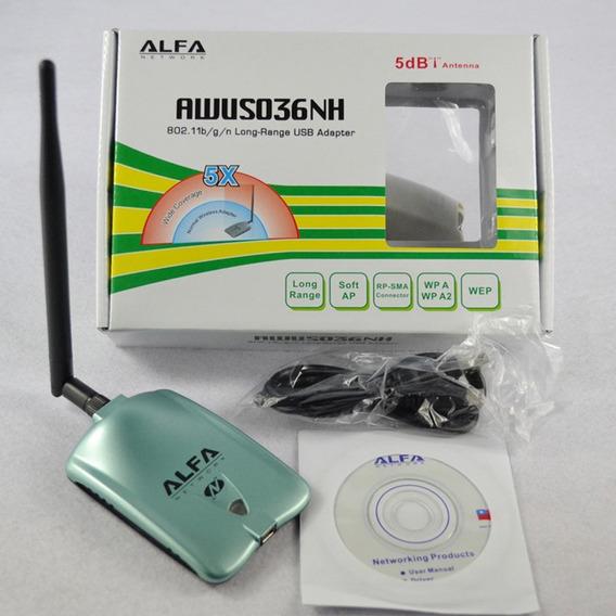 Alfa Awus036nh Adaptador Usb Sem Fio 3070l Wifi