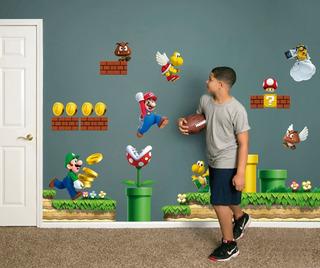 Vinilo Decorativo 3d Mario Bros Stickers De Pared 170x100cm