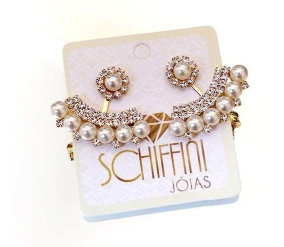 Brinco Ear Jacket Sofhie Pearls Folheado A Ouro Br1464