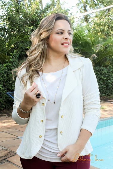 Blazer Terninho Fashion Plus Casaquinho Fem Social G1 G2 G3