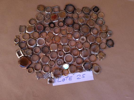Lote 25- Espólio 90 Caixas Relógios -aproveitamento Peças