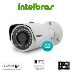Kit4 Câmera Ip Intelbras Vip S3020 Poe 3.6mm G2 720p Hd 20mt