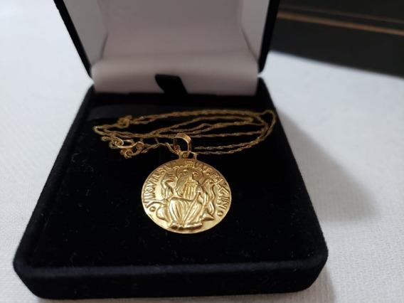 3,5 Gramas Ouro 18k (corrente + Medalha São Bento)