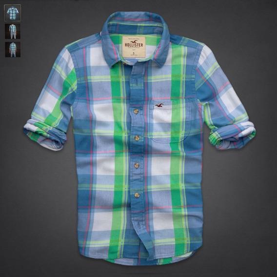 Hollister Remate Camisa Manga Larga Cuadros Afranelada Usa