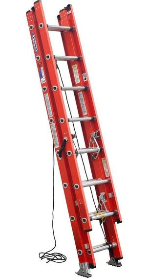 Escalera De Extensión 20 Fibra Vidrio Werner D6220-3 + Envio