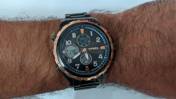 Relógio Masculino Analógico Digital Skmei 1021 Usado