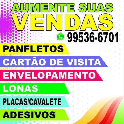 Imagem 1 de 1 de Panfletos, Faixas, Cartões, Adesivos