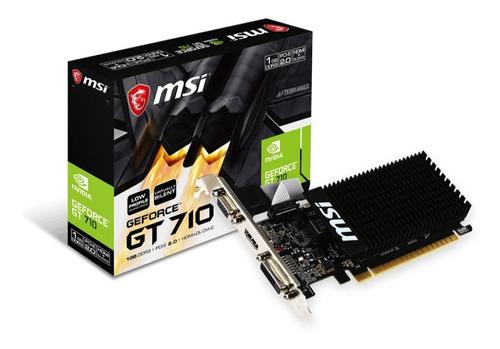 Imagen 1 de 9 de Placa De Video Geforce Gt 710 1gb Msi Dvi-d Hdmi 1gd3h Lp 6e