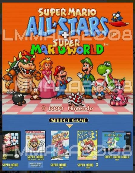 Original Mario All Stars + Mario World Super Nintendo 5 Jgos