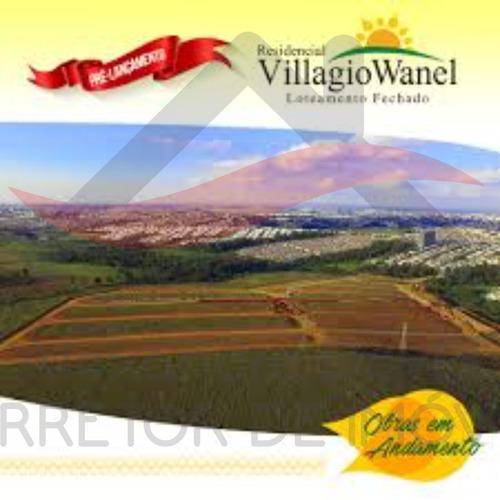 Terreno Villagio Wanel Quadra C  Área Do Terreno: 315,00 M² Valor: R$230.000,00  Agende Uma Visita - Te00053 - 69224954