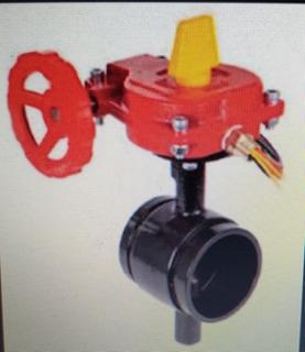 Válvula Borboleta Ranhurada 2 Sistema Anti Incêndio.