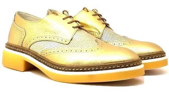 Mocasines Zapatos Acordonados Mujer Cuero Alejandra Tibay