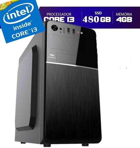 Imagem 1 de 2 de Cpu Pc Intel Core I3 3.2 4gb Ssd 480gb  Limpa Estoque