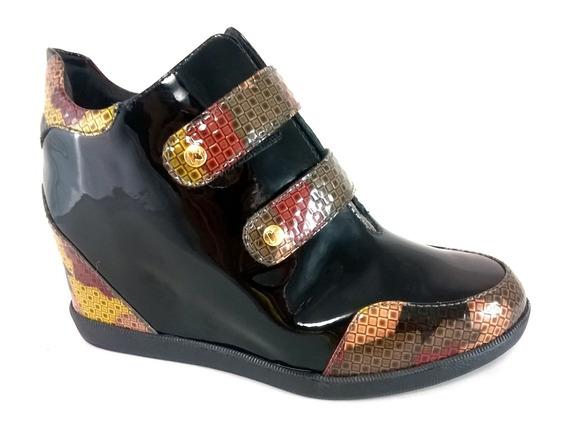 Sneaker Confort Topgrife Couro Multicolorido - W27065multi